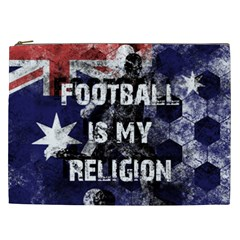 Football Is My Religion Cosmetic Bag (xxl)  by Valentinaart