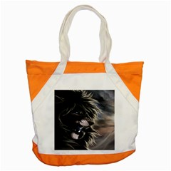 Angry Male Lion Digital Art Accent Tote Bag