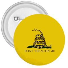 Gadsden Flag Don t Tread On Me 3  Buttons by snek