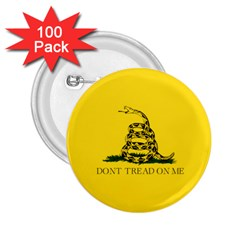 Gadsden Flag Don t Tread On Me 2 25  Buttons (100 Pack)  by snek