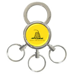 Gadsden Flag Don t Tread On Me 3 Ring Key Chains by MAGA