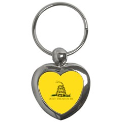 Gadsden Flag Don t Tread On Me Key Chains (heart)  by MAGA