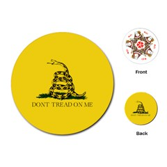 Gadsden Flag Don t Tread On Me Playing Cards (round)  by snek