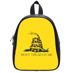 Gadsden Flag Don t Tread On Me School Bag (small) by snek