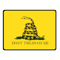 Gadsden Flag Don t Tread On Me Fleece Blanket (small) by snek