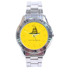 Gadsden Flag Don t Tread On Me Stainless Steel Analogue Watch by snek