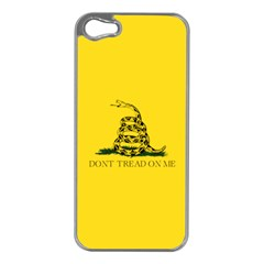 Gadsden Flag Don t Tread On Me Apple Iphone 5 Case (silver) by snek