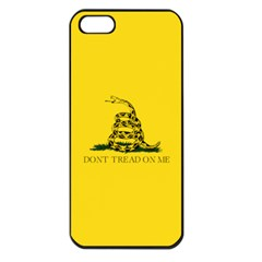 Gadsden Flag Don t Tread On Me Apple Iphone 5 Seamless Case (black) by snek