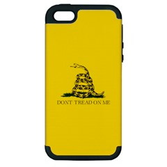 Gadsden Flag Don t Tread On Me Apple Iphone 5 Hardshell Case (pc+silicone) by MAGA