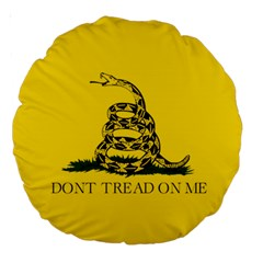 Gadsden Flag Don t Tread On Me Large 18  Premium Round Cushions by snek