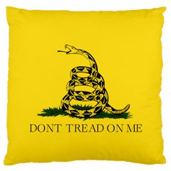 Gadsden Flag Don t Tread On Me Standard Flano Cushion Case (two Sides) by snek