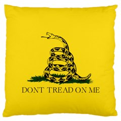 Gadsden Flag Don t Tread On Me Large Flano Cushion Case (one Side) by snek