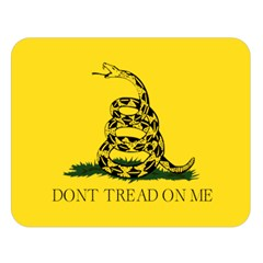 Gadsden Flag Don t Tread On Me Double Sided Flano Blanket (large)  by snek