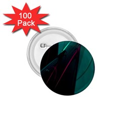 Abstract Green Purple 1 75  Buttons (100 Pack)
