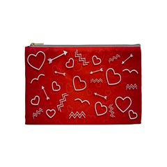 Background Valentine S Day Love Cosmetic Bag (medium)