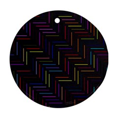 Lines Line Background Ornament (round) by Nexatart