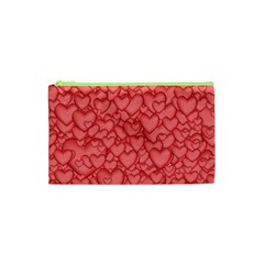 Background Hearts Love Cosmetic Bag (xs) by Nexatart