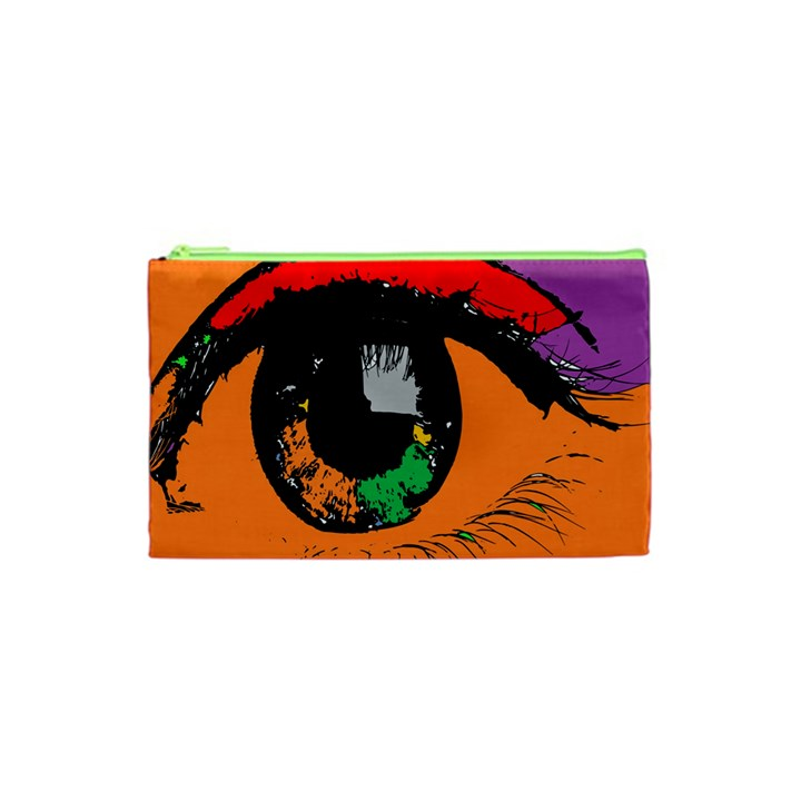 Eyes Makeup Human Drawing Color Cosmetic Bag (XS)