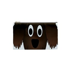Dog Pup Animal Canine Brown Pet Cosmetic Bag (small)  by Nexatart
