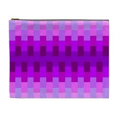 Geometric Cubes Pink Purple Blue Cosmetic Bag (xl) by Nexatart