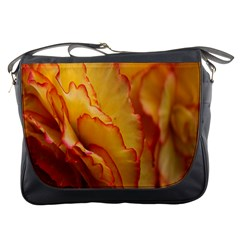 Flowers Leaves Leaf Floral Summer Messenger Bags by Nexatart