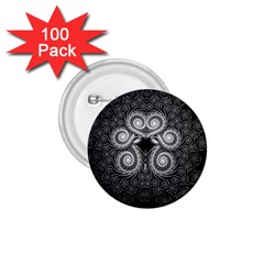 Fractal Filigree Lace Vintage 1 75  Buttons (100 Pack)