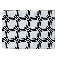 Diagonal Pattern Background Black And White Cosmetic Bag (xxl)  by Sapixe