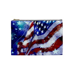 Flag Usa United States Of America Images Independence Day Cosmetic Bag (medium)