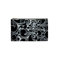 Floral High Contrast Pattern Cosmetic Bag (small)  by Sapixe