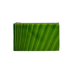 Green Leaf Pattern Plant Cosmetic Bag (small)  by Sapixe
