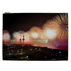 Kuwait Liberation Day National Day Fireworks Cosmetic Bag (xxl)  by Sapixe