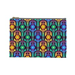 Pattern Background Bright Blue Cosmetic Bag (large)  by Sapixe