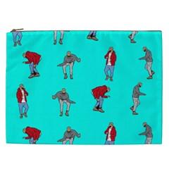 Hotline Bling Blue Background Cosmetic Bag (xxl)  by Samandel