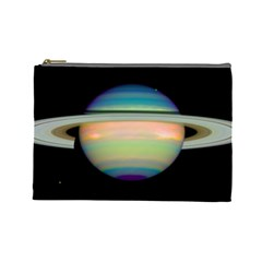 True Color Variety Of The Planet Saturn Cosmetic Bag (large)  by Sapixe