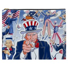 United States Of America Celebration Of Independence Day Uncle Sam Cosmetic Bag (xxxl)  by Sapixe