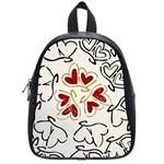 Love Love hearts School Bag (Small)