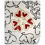 Love Love Hearts Canvas 11  x 14