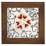 Love Love Hearts Framed Tiles