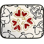 Love Love Hearts Fleece Blanket (Mini)