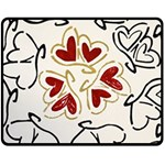 Love Love Hearts Fleece Blanket (Medium)