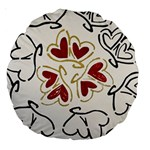 Love Love Hearts Large 18  Premium Round Cushions