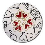 Love Love Hearts Round Mousepads Front