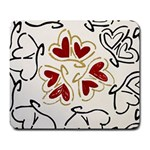 Love Love Hearts Large Mousepads Front