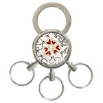 Love Love Hearts 3-Ring Key Chains