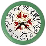 Love Love Hearts Color Wall Clocks Front