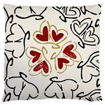 Love Love Hearts Large Flano Cushion Case (Two Sides)