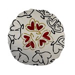 Love Love Hearts Standard 15  Premium Flano Round Cushions
