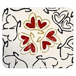 Love Love Hearts Double Sided Flano Blanket (Small)
