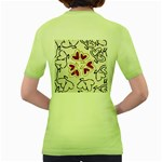 Love Love Hearts Women s Green T-Shirt Back