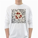 Love Love Hearts White Long Sleeve T-Shirts Front